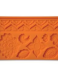 fondant e goma tecido pasta projetos de molde de silicone folha de decoração do bolo e acenar cor aleatória