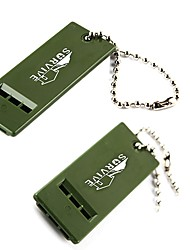 Survival Whistle Trilha Sobrevivência / Assobio Plástico Verde
