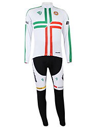 KOOPLUS Unisex Cycling Suits Long Sleeve Bike Spring / AutumnQuick Dry / Waterproof Zipper / Front Zipper / Dust Proof / Wearable /