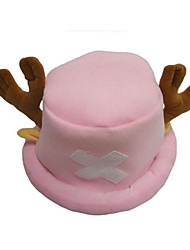 Hat/Cap Inspired by One Piece Tony Tony Chopper Anime Cosplay Accessories Cap / Hat Pink Terylene Male