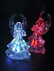 Colorful LED Flashing Angel Lamp -Set of 4