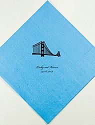 Personalizado casamento Guardanapos Golden Gate (mais cores)-Grupo de 100