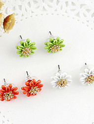 Earring Flower Stud Earrings Jewelry Women Party / Daily Pearl / Alloy White / Orange / Green KAYSHINE