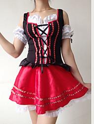 Beer Girl preto e traje das mulheres vermelhas
