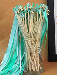 Green Wedding Ribbon Wand--(Set of 10)
