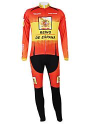 Kooplus2013 Campeonato Jersey Espanha poliéster e Lycra e tecido elástico Ciclismo Suits (camisa + Bib-calças)