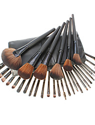 32pcs Black Leather High Professional Makeup Brush Sets