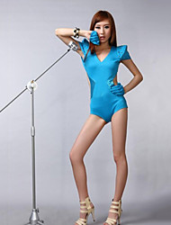 Lady Gaga Rivet Jumpsuit Sky Blue Frauentracht