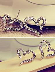 Lady Love Boucles d oreilles diamants Aiguilles des bijoux de femme coréenne E611