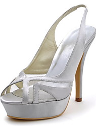 Elegant Bridal Satin Pumps with Hollow-out Wedding Shoes(More Colors)