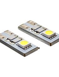 daiwl t10 0.4W 2x5050smd 20-80lm 6000k lumière blanche froide conduit ampoule spot (12v)