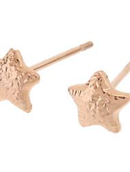 Rose Gold Star Boucles d'oreilles motif