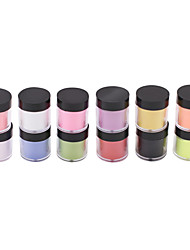 12-Color Nail Art Sculpture Carving Acrylic Powder