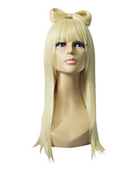 Lady Gaga Hairstyle Capless Top Grade Synthetic Golden Blonde Straight Wig