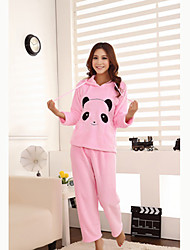 Panda Print with Hat Lounge Wear