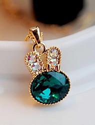 Feminino Colares com Pendentes Cristal imitação de diamante Liga Moda Estilo bonito Jóias de Luxo Jóias Para Festa 1peça