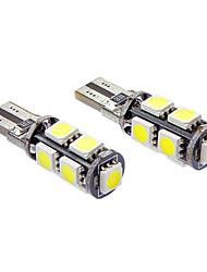 T10 1.5W 9x5050-DMEE 110-130LM 6000k lumière blanche fraîche Ampoule LED Spot (12V)