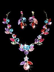 Ensemble de bijoux Femme Anniversaire / Cadeau / Sorée / Occasion spéciale Parures Alliage Stras / ZirconColliers décoratifs / Boucles