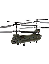 SYMA S026G 3 Channel Infrared Remote Control Mini Helicopter with Gyro (Army Green,6xAA)
