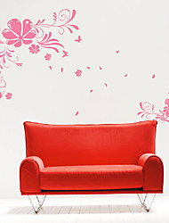 Floral Flying Wall Stickers
