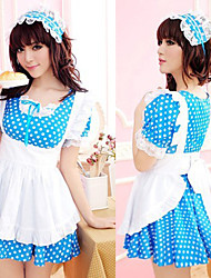 Kawaii Chica White Dot Dress uniforme de mucama