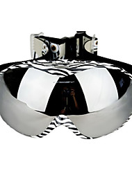 Black/White Frame Anti UV Skiing Goggles