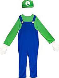 Mario's Brother Luigi Kids Costume