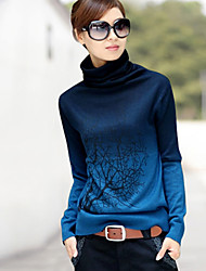 Women's Sweaters , Cashmere/Others/Wool Casual/Work SIBOSHE