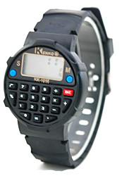 Часы-калькулятор с круглым дисплеем