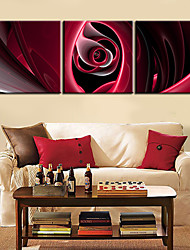 Stretched Canvas Art Abstract Great Passion Set of 3