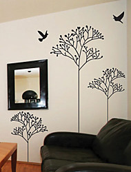 Sprining Tree and Bird Wall Stickers