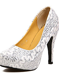 Tasteful Satin Round Toe Pumps with Sparking Glitter Wedding Shoes(More Colors)