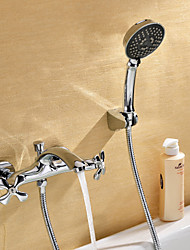 Sprinkle® Tub Faucets  ,  Transitional  with  Chrome Two Handles Two Holes  ,  Feature  for Wall Mount
