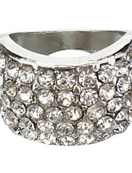 Petit argent sertie de diamants Bague