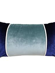 "18 ""Rectangular Light Blue Solide Polyester Dekorative Kissenbezug"