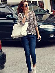 Blusa de Mulher em Chifon (Leopardo)