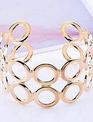 Ανδρικά Χειροπέδες Βραχιόλια Μοναδικό Μοντέρνα Κοίλο κοστούμι κοστουμιών Επιχρυσωμένο Circle Shape Κοσμήματα Κοσμήματα Για Πάρτι