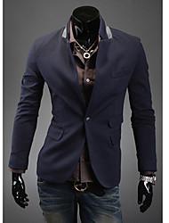 RR KAUFEN Men Cyan-Taschen-Entwurfs One Button Tailored Collar Jacket
