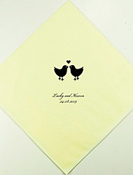 Personalized Wedding Napkins Lovebirds(More Colors)-Set of 100