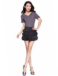 Lovely Dancewear Tulle Latin Dance Skirt For Ladies