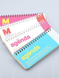 una semana cuaderno espiral del plan (color al azar)
