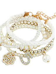 Korea Style Multilayer Pearl Flower Bracelet (buy 1 get 2 free gifts)