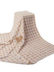 Brown Bear Coral Coral Fleece Baby Blanket