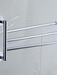 "Barre porte-serviette Chrome Fixation Murale 330 x 235  mm (12.99 x 9.25 "") Laiton Contemporain"