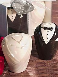 Очаровательная невеста и жених Соль и перец шейкер сувениры