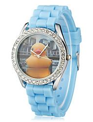Weili Vintage Nette Rubber Duck Silikon-Uhrenarmband Armbanduhr