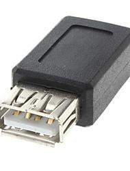 USB una hembra al mini USB hembra adaptador convertidor