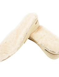 Comfortable Beige Keep Warm and Air Cushion Insole(3-5cm High)