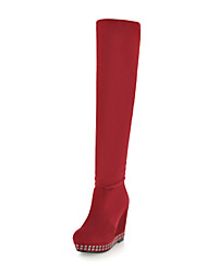 Tasteful Suede Wedges Knee High Boots Party Shoes(More Colors)