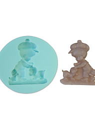 Kid And Dog Silicone Mould Cake Decorating Baking Tool